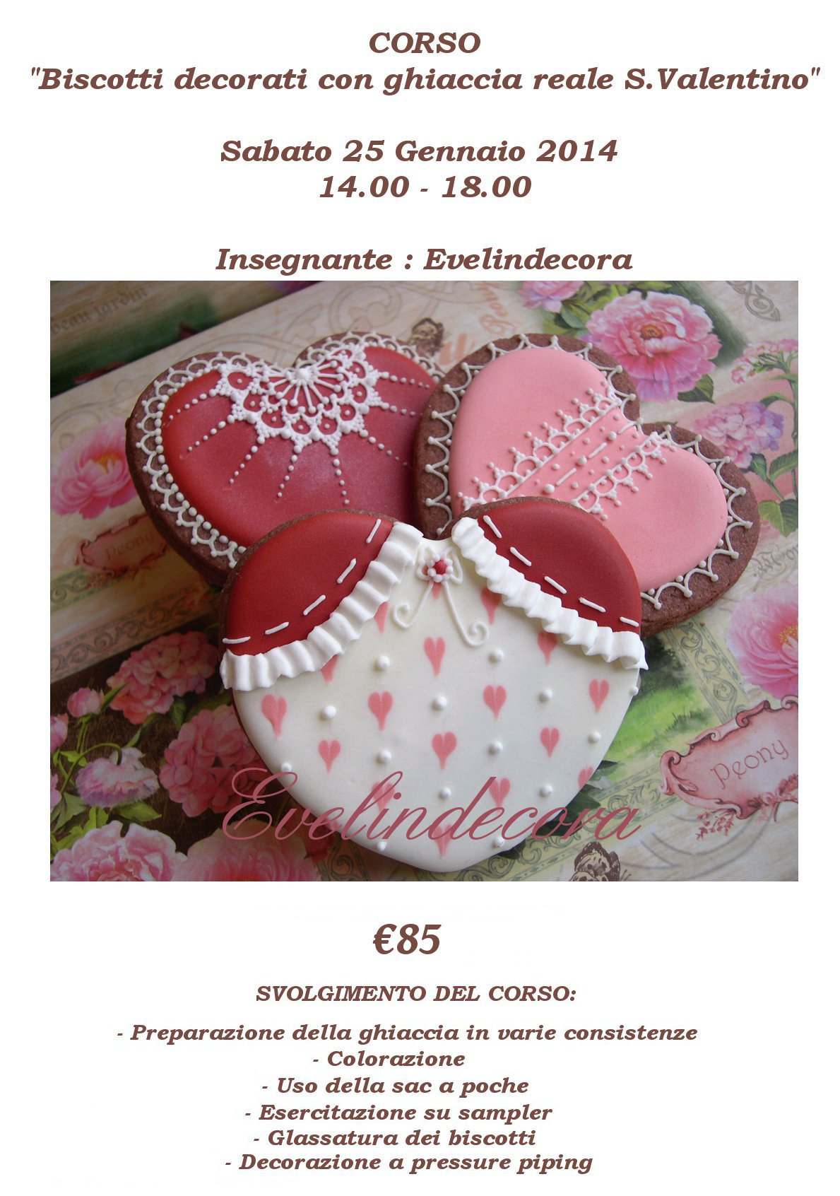 Locandina Corso s.Valentino Let's cake 2 25-1-2014